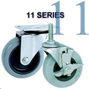 11 Series Light Duty Plate/Stem Casters