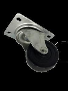 Swivel Hard Rubber 175 Lb Standard duty caster