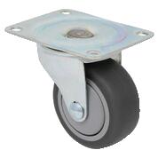 Swivel grey rubber / poly-o 200 Lb Standard duty caster