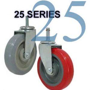 Series 25 Light and Medium Duty Stem Casters
