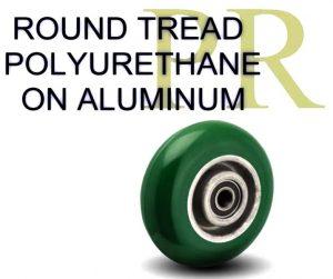 Balloon Tread Poyurethane on Aluminum Wheels