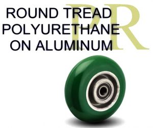 Balloon Tread Poyurethane on Aluminum Wheels
