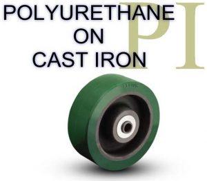 4 Inch 600 Lb Roller POLYURETHANE ON CAST IRON WHEEL