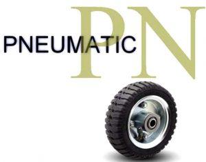 8 Inch 210 Lb Centered Ball Pneumatic Wheel