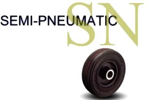8 Inch 500 Lb Centered Ball Semi-Pneumatic Wheel