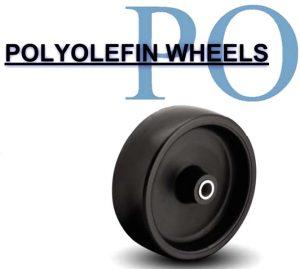 4 Inch 190 Lb Plain Bore POLYURETHANE ON POLYOLEFIN WHEEL