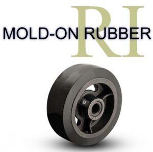 1/2 Inch 1 5/8 Lb Roller MOLD-ON RUBBER WHEEL