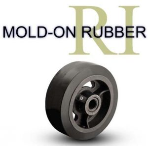 1/2 Inch 2  3/16 Lb Roller MOLD-ON RUBBER WHEEL