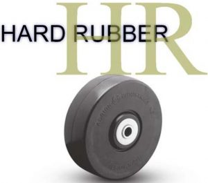 3 1/2 Inch 300 Lb Plain Bore HARD RUBBER WHEEL