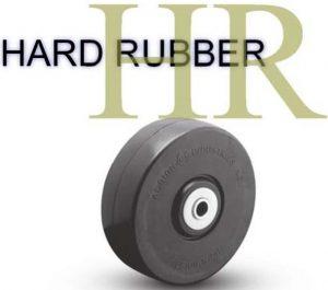 5 Inch 350 Lb Plain Bore HARD RUBBER WHEEL