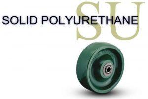 3/8 Inch 1 9/16 Lb 400 Plain Bore SOLID POLYURETHANE WHEEL