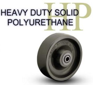 HU Solid Cast Poly/Elastomer Wheel