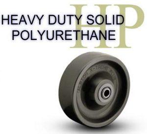 8 Inch 2000 Lb Precision Ball HEAVY DUTY SOLID POLYURETHANE WHEEL