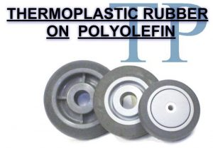 4 Inch 1 1/2 Lb Roller THERMOPLASTIC RUBBER ON POLYOLEFIN WHEEL