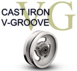 1/2 Inch 2  3/16 Lb 6 Roller CAST IRON V-GROOVES WHEEL