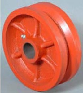 8 Inch 5000 Lb Tapered DUCTILE STEEL V-GROOVE WHEEL