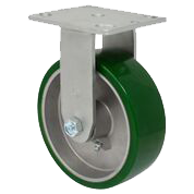 SERIES 44 RIGID 6 inch Poly-u, Aluminum 1050 Lb MEDIUM / HEAVY DUTY CASTERS