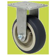 SERIES 44 RIGID 6 inch Gray Rubber 500 Lb MEDIUM / HEAVY DUTY CASTERS
