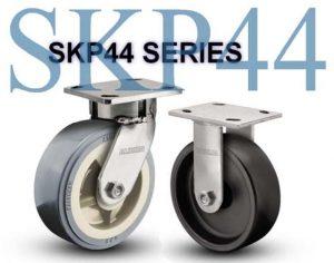 SERIES SKP44 Swivel 4 inch Polyurethane 500 Lb STAINLESS STEEL KINGPINLESS CASTERS