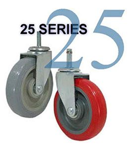 25 Light/Medium Duty Stem Casters