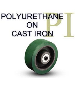 PI Series Polyurethane on Cast Iron Wheel