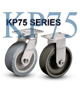 KP75 Series Heavy Duty Kingpinless Casters