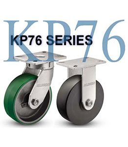 KP76 Series Heavy Duty Kingpinless Casters