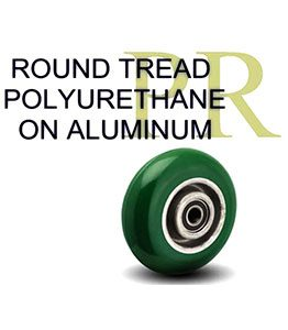 PR Series Round Tread on Aluminum Wheel