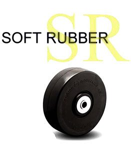 SR Series Soft Rubber Wheeel