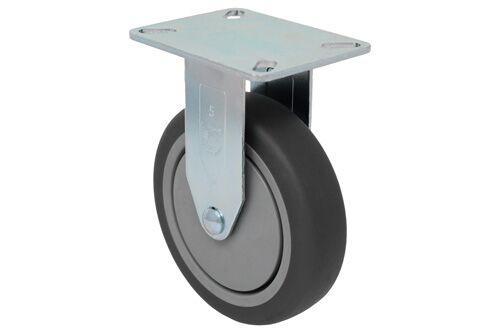 SERIES 22 RIGID 3 inch gray rubber 210 Lb LIGHT / MEDIUM DUTY CASTERS