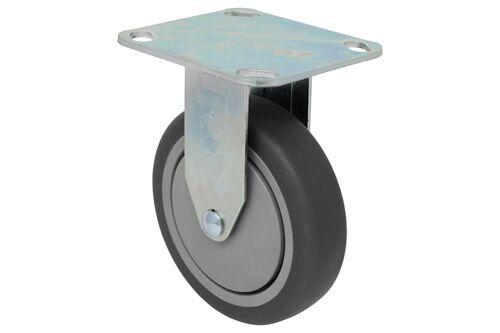 Series 23 RIGID 3 1/2 inch gray rubber 230 Lb  LIGHT / MEDIUM DUTY CASTERS