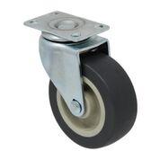 Swivel Gray Rubber 70 Lb Light/Medium Duty Stem Caster
