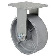 SERIES 44 RIGID 6 inch Cast iron 1200 Lb MEDIUM / HEAVY DUTY CASTERS